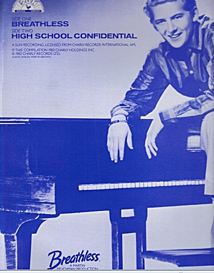 Breathless album cover showing Jerry Lee Lewis (soundtrack)