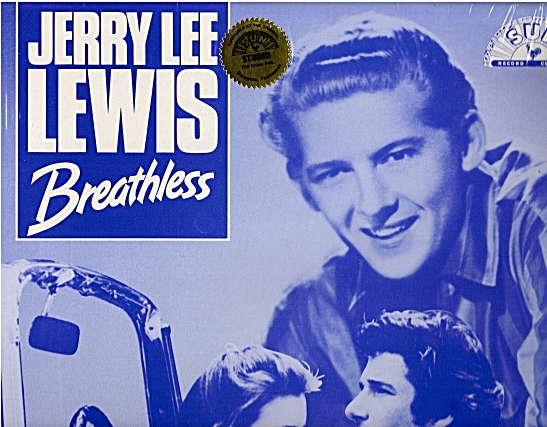 Breathless album front cover showing Jerry Lee Lewis