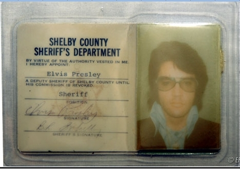 Elvis Shelby County photo ID Sherriff's