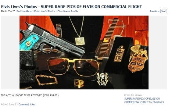 Elvis badge and gun collection...Denver badge