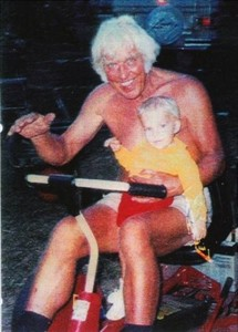 Elvis in 1994 with grandson