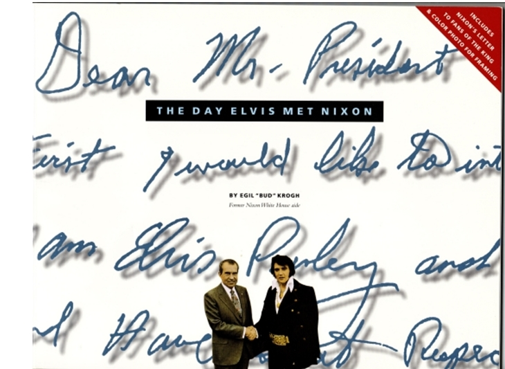 Enlarged excerpt from Elvis' letter to Pres. Nixon
