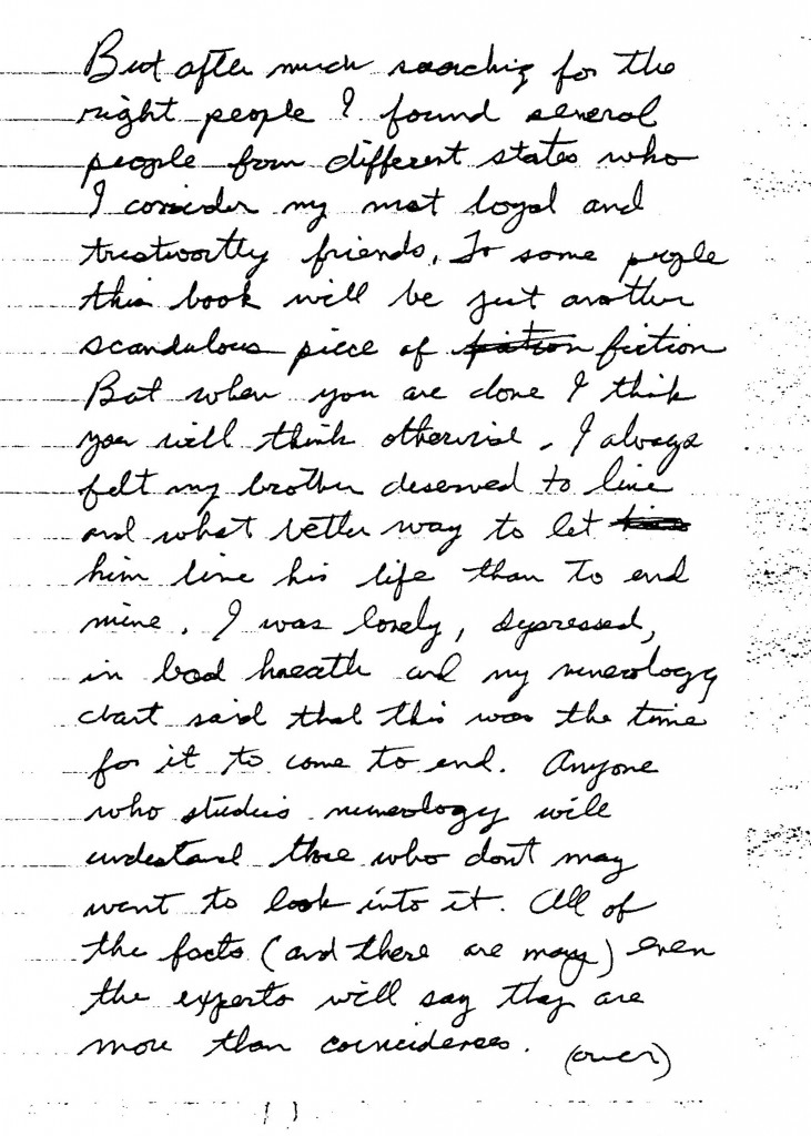 Jesse's handwritten introduction to book page 2