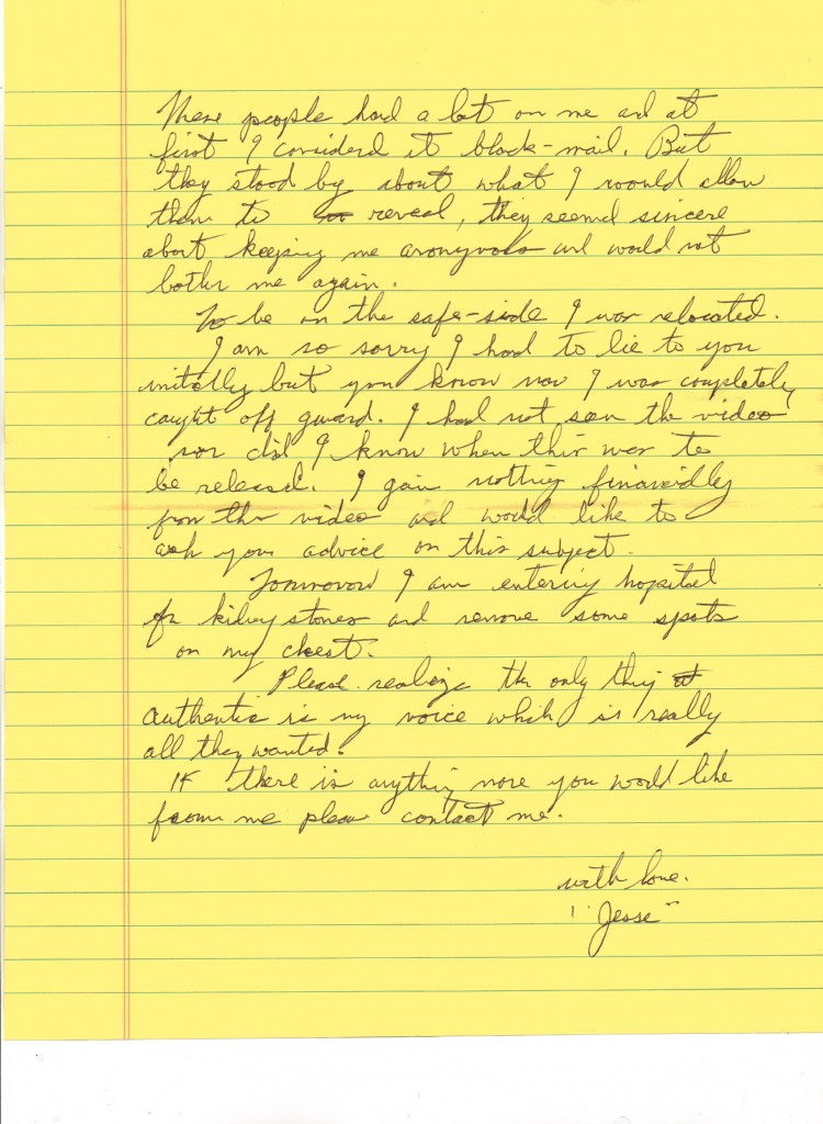 Jesse's letter about the DVD Page 2