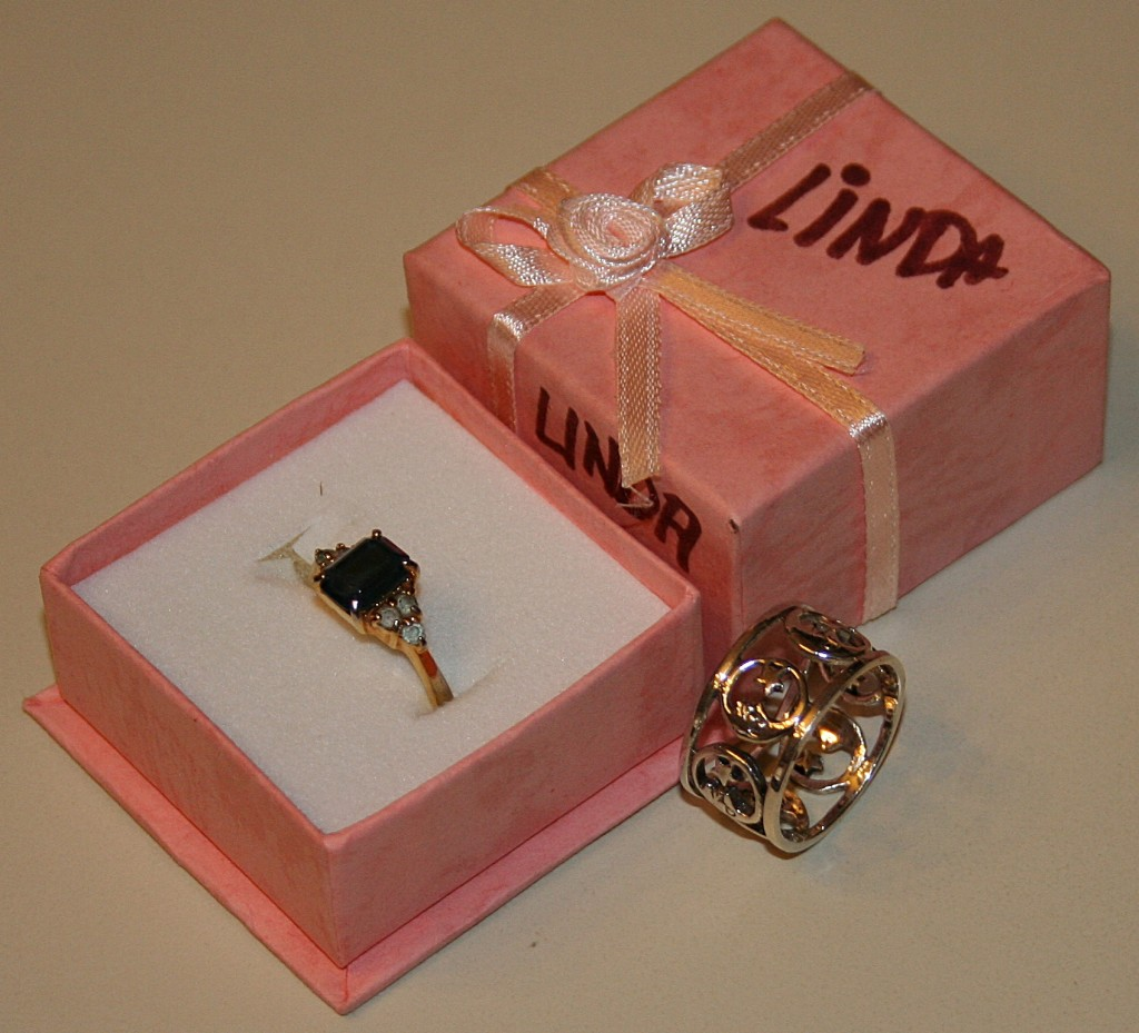 Jesse's Valentine's gift two rings 2012