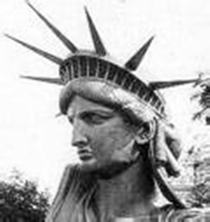 Statue of Liberty black and white Elvis