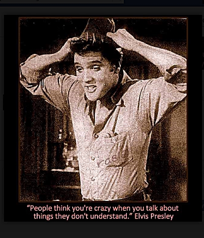 Elvis quote   People think you're crazy