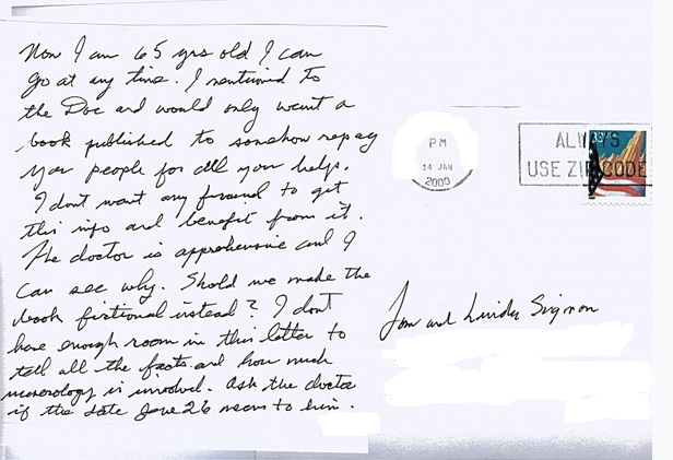 Jesse's letter about book fictional or not page 2
