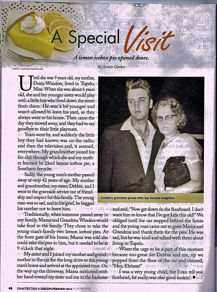 Elvis article from the Good Old Days magazine