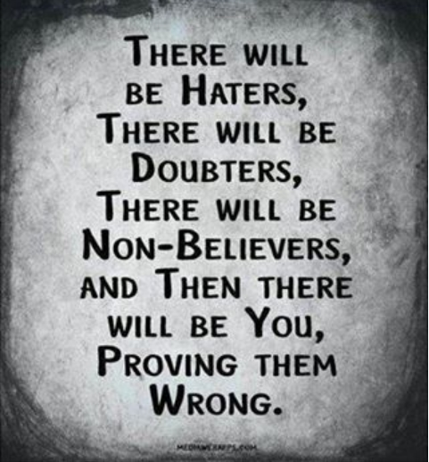 There will be the haters....