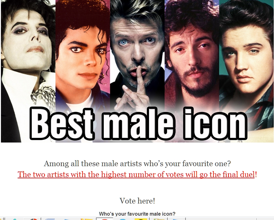 Vote for best male icon
