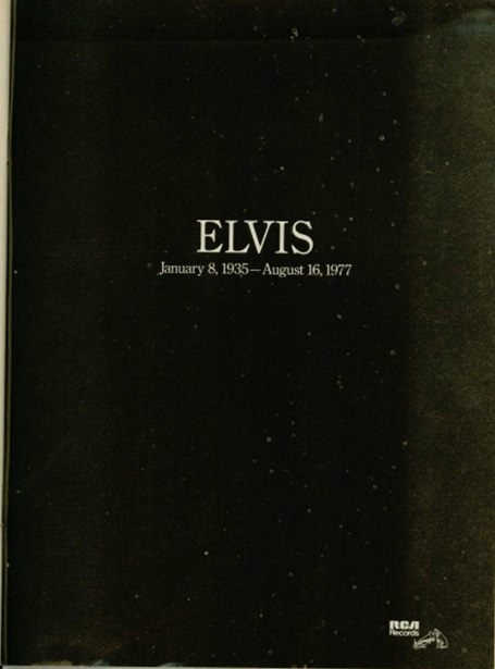 1980 Country Music Elvis Special Edition Magazine Memorial page to Elvis