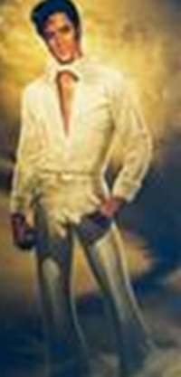 Elvis painting at Graceland for Jesse's Comin'
