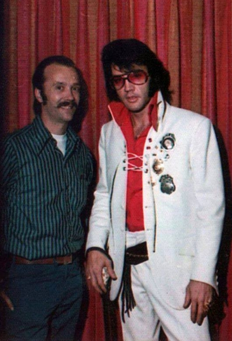 ELVIS with badges  cropped  Jeannette Ed Hens