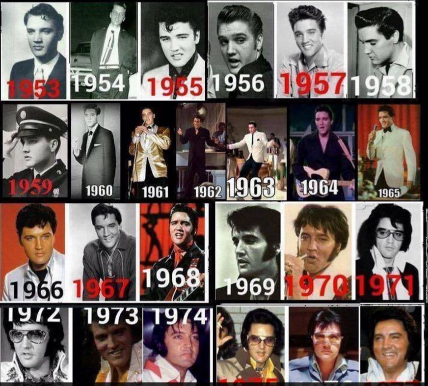 Elvis thru the years collage