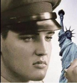 My letterhead Elvis with Statue